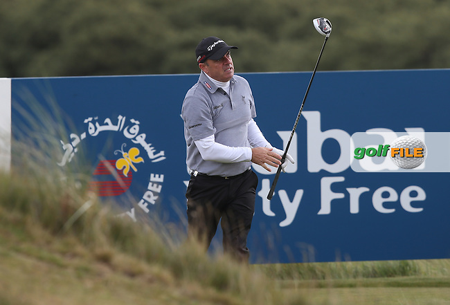 Paul McGinley (IRL) on the 9th tee during Round Three of the 2015 Dubai Duty Free Irish Open Hosted by The Rory Foundation at Royal County Down Golf Club, Newcastle County Down, Northern Ireland. 30/05/2015. Picture David Lloyd | www.golffile.ie