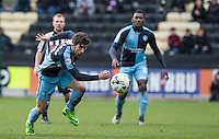 Max Kretzschmar of Wycombe Wanderers in action during the Sky Bet League 2 match between Notts County and Wycombe Wanderers at Meadow Lane, Nottingham, England on 28 March 2016. Photo by Andy Rowland.