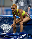 SHANGHAI, CHINA - MAY 19:  Inika McPherson competes in the Women High Jump during the Samsung Diamond League on May 19, 2012 at the Shanghai Stadium in Shanghai, China.  Photo by Victor Fraile / The Power of Sport Images