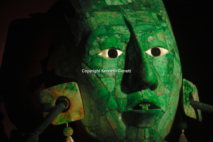 Maya; Palenque; Ancient Cultures; The Americas; Archaeology; Mexico; Meso America, Pakal, Death Mask, INAH, National Museum of Anthropology and History