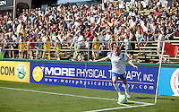 Boston Breaker's Kristine Lilly takes a corner kick. FC Gold Pride defeated the Boston Breakers 2-1 at Buck Shaw Stadium in Santa Clara, California on April 5th, 2009.