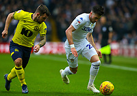 Leeds United's Jack Harrison takes on Blackburn Rovers' Adam Armstrong<br /> <br /> Photographer Alex Dodd/CameraSport<br /> <br /> The EFL Sky Bet Championship - Leeds United v Blackburn Rovers - Wednesday 26th December 2018 - Elland Road - Leeds<br /> <br /> World Copyright &copy; 2018 CameraSport. All rights reserved. 43 Linden Ave. Countesthorpe. Leicester. England. LE8 5PG - Tel: +44 (0) 116 277 4147 - admin@camerasport.com - www.camerasport.com