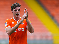 Blackpool's Ben Heneghan applauds the fans after the match<br /> <br /> Photographer Alex Dodd/CameraSport<br /> <br /> The EFL Sky Bet League One - Blackpool v Portsmouth - Saturday August 11th 2018 - Bloomfield Road - Blackpool<br /> <br /> World Copyright &copy; 2018 CameraSport. All rights reserved. 43 Linden Ave. Countesthorpe. Leicester. England. LE8 5PG - Tel: +44 (0) 116 277 4147 - admin@camerasport.com - www.camerasport.com
