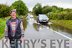 Brendan Tangney at Listry bridge on the Killarney Milltown road which flooded on Monday