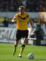 Fussball 2. Bundesliga Saison 2011/2012 13. Spieltag Dynamo Dresden - Karlsruher SC Muhamed SUBASIC (Dynamo Dresden).