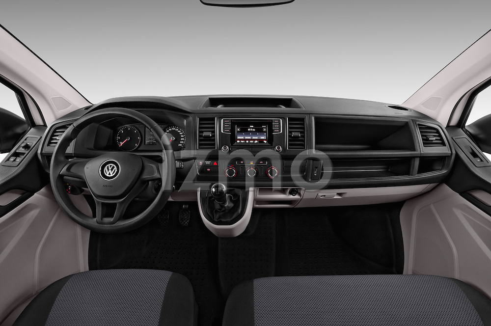 Stock photo of straight dashboard view of 2016 Volkswagen Transporter-Furgon - 4 Door Cargo Van Dashboard