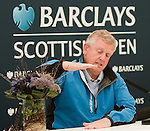 Colin Montgomerie at his press conference ahead of the Barclays Scottish Open, played over the links at Castle Stuart, Inverness, Scotland from 7th to 10th July 2011:  Picture Stuart Adams /www.golffile.ie  6th July 2011