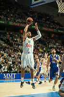 Real Madrid´s Gustavo Ayon during 2014-15 Euroleague Basketball match between Real Madrid and Anadolu Efes at Palacio de los Deportes stadium in Madrid, Spain. December 18, 2014. (ALTERPHOTOS/Luis Fernandez) /NortePhoto /NortePhoto.com