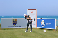 Thorbjorn Olesen (DEN) on the 8th tee during Round 1 of the Rocco Forte Sicilian Open 2018 on Thursday 5th May 2018.<br /> Picture:  Thos Caffrey / www.golffile.ie<br /> <br /> All photo usage must carry mandatory copyright credit (&copy; Golffile | Thos Caffrey)