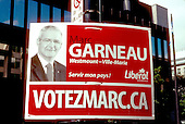 Marc Garneau, former Canadian  astronaut of the Canadian Space Agency runs for the Federal Liberal party in the Westmount-Ville-Marie district   by-election to be held on September 8th 2008