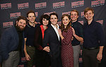 Brandon James Ellis, Joe Carroll, Beth Leavel, Corey Cott, Laura Osnes, Geoff Packard and James Nathan Hopkins attends the 'Bandstand' Broadway cast photo call at the Rainbow Room on March 7, 2017 in New York City.