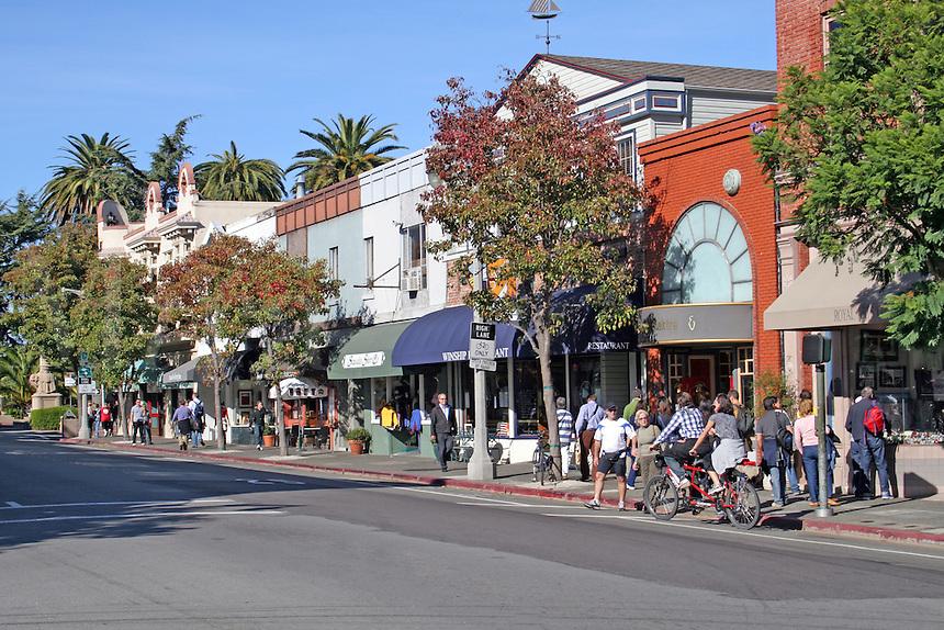 People stores on Bridgeway, Sausalito California
