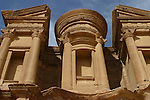 The facade of the Deir measure 49 m long and 39 m highThe Deir, built on the top of a mountain is one of the most fascinating monument of  Petra. Jordan