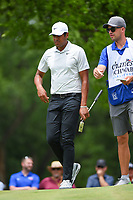 Tony Finau (USA) looks over his putt on 2 during round 3 of the 2019 Charles Schwab Challenge, Colonial Country Club, Ft. Worth, Texas,  USA. 5/25/2019.<br /> Picture: Golffile | Ken Murray<br /> <br /> All photo usage must carry mandatory copyright credit (© Golffile | Ken Murray)