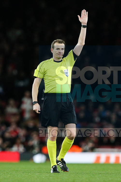 Referee Pavel Kralovec during the UEFA Europa League Quarter-Final 1st leg match at the Emirates Stadium, London. Picture date 5th April 2018. Picture credit should read: Charlie Forgham-Bailey/Sportimage