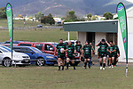 Kane Bodman leads the Maramarua team out for the Counties Manukau Premier 3, Counties Power Club Rugby Round 1 game between Maramarua and Weymouth, played at Maramarua on Saturday April 7th, 2018. Weymouth won the game 43 - 17 after leading 33 - 0 at halftime.<br /> Photo by Richard Spranger.