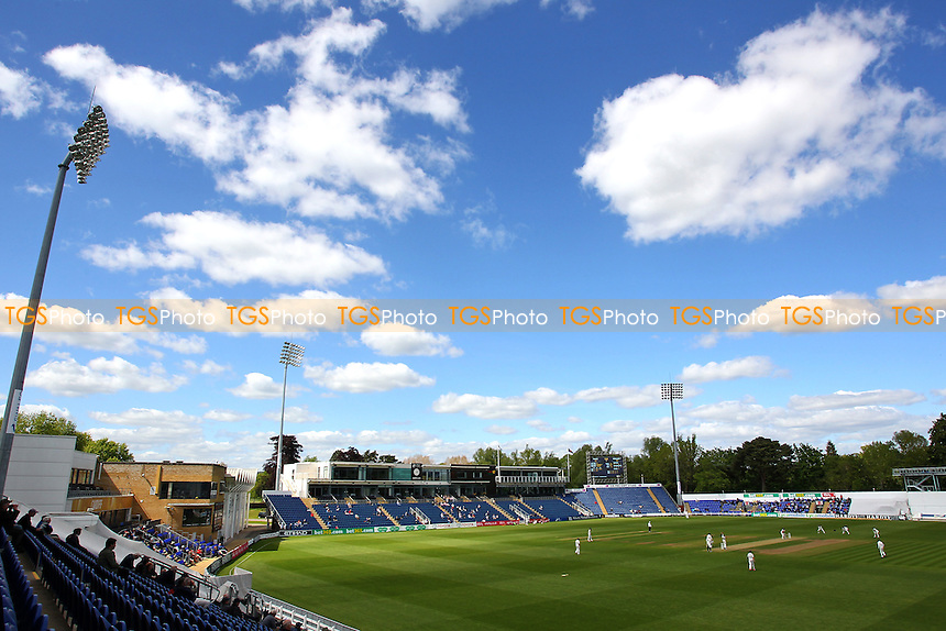General view of play on Day Three - Glamorgan CCC vs Essex CCC - LV County Championship Division Two Cricket at the SWALEC Stadium, Sophia Gardens, Cardiff, Wales - 20/05/15 - MANDATORY CREDIT: TGSPHOTO - Self billing applies where appropriate - contact@tgsphoto.co.uk - NO UNPAID USE
