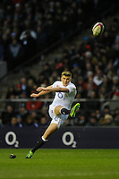 Owen Farrell of England takes penalty kick during the RBS 6 Nations match between England and France at Twickenham on Saturday 23rd February 2013 (Photo by Rob Munro)