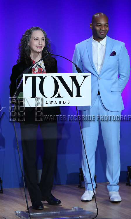 Brandon Victor Dixon, and Bebe Neuwirth during The 73rd Annual Tony Awards Nominations Announcement on April 30, 2019 in New York City.