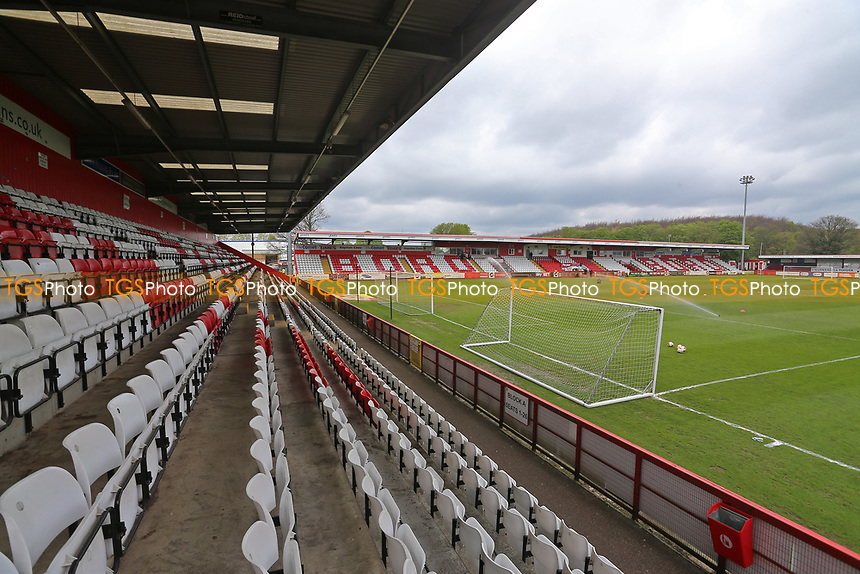 General view of the ground during Stevenage vs Morecambe, Sky Bet EFL League 2 Football at the Lamex Stadium on 14th April 2017