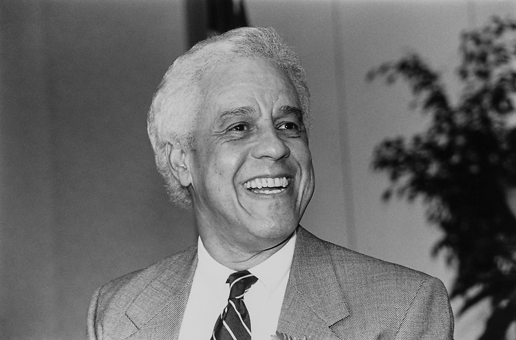 Governor Douglas Wilder, D-Va., on March 8, 1991. (Photo by Maureen Keating/ CQ Roll Call)