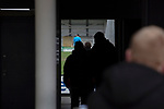 Away fans making their way into the stadium before AFC Fylde took on Aldershot Town in a National League game at Mill Farm, Wesham. The fixture was played against the backdrop of the total postponement of all Premier League and EFL football matches due to the the coronavirus outbreak. The home team won the match 1-0 with first-half goal by Danny Philliskirk watched by a crowd of 1668.