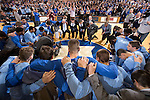 North Carolina v Duke.  Duke won 92-90 (OT).  Cameron Indoor Stadium.  Durham, NC.  Wednesday February 18, 2015.<br />