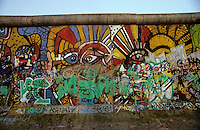 'Graffiti V' - Berlin Wall west zone.10 November 1989