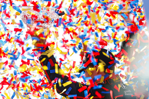Robert Wickens, Schmidt Peterson Motorsports Honda, Celebration, Confetti
