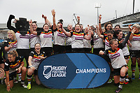 Picture by Paul Currie/SWpix.com - 07/10/2017 - Rugby League - Women's Super League Grand Final - Bradford Bulls v Featherstone Rovers - Regional Arena, Manchester, England - Bradford celebrate with the trophy
