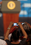 The crowd photographs Presiden Barack Obama at the 113th National Convention of the Veterans of Foreign Wars in Reno, Nev., on Monday, July 23, 2012..Photo by Cathleen Allison