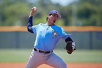Tampa Bay Rays pitcher Jose Roca (78) during a Minor League Extended Spring Training game against the Baltimore Orioles on April 17, 2019 at Charlotte County Sports Complex in Port Charlotte, Florida.  (Mike Janes/Four Seam Images)