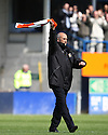 Luton Town manager Richard Money rouses the fans before the Blue Square Premier play-off semi-final 2nd leg   match between Luton Town and York City at Kenilworth Road, Luton on Monday 3rd May, 2010..© Kevin Coleman 2010 ..