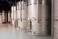 stainless steel tanks Bodegas Vinas Zamoranas, DO Tierra del Vino de Zamora , Coreses spain castile and leon