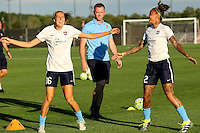 Piscataway, NJ - Wednesday Sept. 07, 2016: Sarah Killion, Christy Holly, Tasha Kai prior to a regular season National Women's Soccer League (NWSL) match between Sky Blue FC and the Orlando Pride FC at Yurcak Field.
