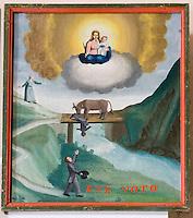 Europe/France/Rhone-Alpes/73/Savoie/Saint-Martin-de-Belleville: Chapelle Notre-Dame-de-la-Vie détail ex-voto