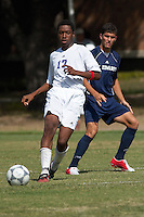 SAN ANTONIO, TX - OCTOBER 5, 2005: The St. Edward's University Hilltoppers vs. the St. Mary's University Rattlers Men's Soccer at the St. Mary's Soccer Field. (Photo by Jeff Huehn)