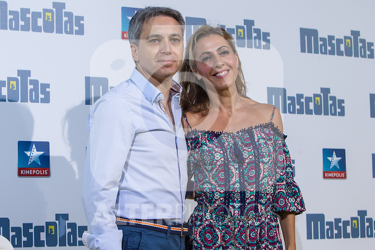 Spanish periodist Vicente Valles and Angeles Blanco during the premiere of  Mascotas at Kinepolis cinema in Madrid. July 21, 2016. (ALTERPHOTOS/Rodrigo Jimenez)