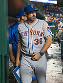New York Mets manager Mickey Callaway (36) leaves the dugout following his team's 25 - 4 loss to the Washington Nationals at Nationals Park in Washington, D.C. on Tuesday, July 31, 2018. <br /> Credit: Ron Sachs / CNP<br /> (RESTRICTION: NO New York or New Jersey Newspapers or newspapers within a 75 mile radius of New York City)