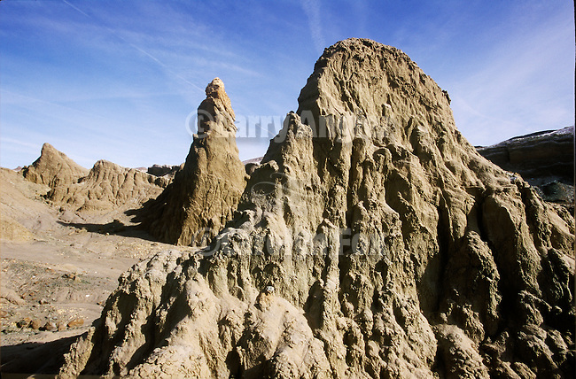 Pillars of mud and other unusual erosional forms are found at The Sump, a hidden gem in central Nevada