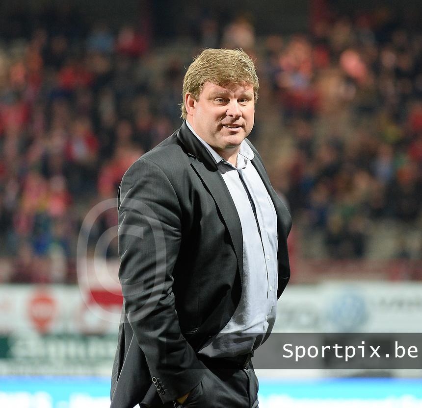 KV Kortrijk : Hein Vanhaezebrouck <br /> foto VDB / BART VANDENBROUCKE