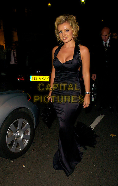 KATHERINE JENKINS.Leaving the V & A Golden Age of Couture Gala Victoria and Albert Museum, London, England. .September 18th, 2007 .full length black dress.CAP/CAN.©Can Nguyen/Capital Pictures
