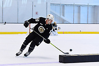 June 26, 2018: Boston Bruins forward Stephen Baylis (93) skates during the Boston Bruins development camp held at Warrior Ice Arena in Brighton Mass. Eric Canha/CSM