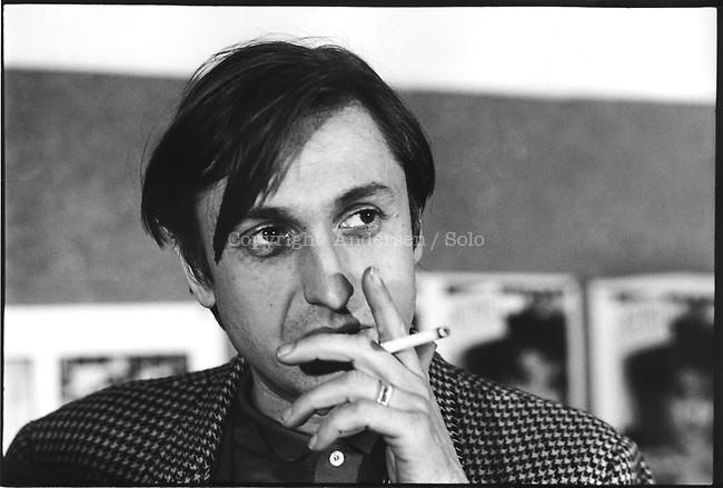 Jean Francois Bizot, ecrivain Francais, fondateur d'Actuel. Paris, 21 novembre 1979.