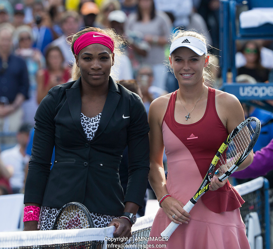 SEREMA WILLIAMS (USA), CAROLINE WOZNIACKI (DEN)<br /> The US Open Tennis Championships 2014 - USTA Billie Jean King National Tennis Centre -  Flushing - New York - USA -   ATP - ITF -WTA  2014  - Grand Slam - USA  <br /> 7th September 2014. <br /> <br /> &copy; AMN IMAGES