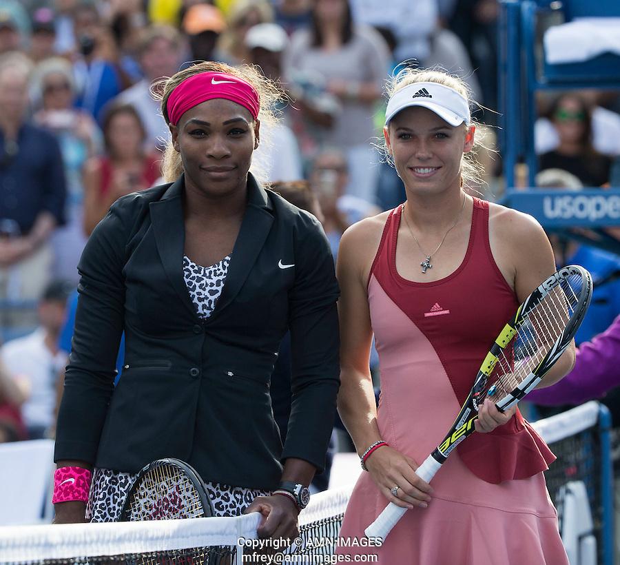 SEREMA WILLIAMS (USA), CAROLINE WOZNIACKI (DEN)<br /> The US Open Tennis Championships 2014 - USTA Billie Jean King National Tennis Centre -  Flushing - New York - USA -   ATP - ITF -WTA  2014  - Grand Slam - USA  <br /> 7th September 2014. <br /> <br /> &copy; AMN IMAGES