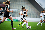 16.03.2019, Stadion Essen, Essen, GER, AFBL, SGS Essen vs TSG 1899 Hoffenheim, DFL REGULATIONS PROHIBIT ANY USE OF PHOTOGRAPHS AS IMAGE SEQUENCES AND/OR QUASI-VIDEO<br /> <br /> im Bild | picture shows:<br /> Einzelaktion Manjou Wilde (SGS Essen #8), <br /> <br /> Foto &copy; nordphoto / Rauch