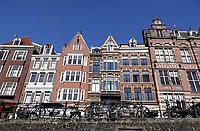 Nederland -  Amsterdam -  april 2019.   Grachtenpanden in Amsterdam centrum. De Schippersgracht.   Foto Berlinda van Dam / Hollandse Hoogte