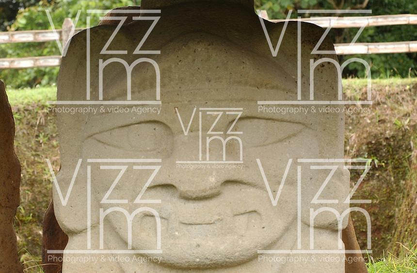 SAN-AGUSTÍN-COLOMBIA, Parque Arqueológico de San Agustín, ubicado en el departamento del Huila, cuenta con 500 estatuas talladas que son el legado en una misteriosa cultura prehispánica en Colombia. San Agustín Archaeological Park, located in the departmento of Huila, has 500 carved stone statues are the legacy  from a mysterious prehispanic culture in Colombia. Photo: VIzzorImage/Felipe Caicedo