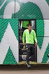 17.05.2018, Stadion am Auetal, Ahlerstedt, GER, FSP, Auswahl Ahlerstedt / Ottendorf vs SV Werder Bremen<br /> <br /> im Bild<br /> Zlatko Junuzovic (Werder Bremen #16) steigt aus dem Mannschaftsbus aus, <br /> <br /> Foto &copy; nordphoto / Ewert